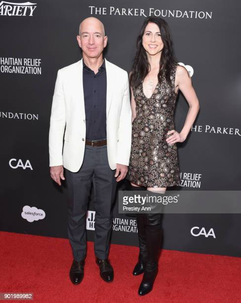 Chief Executive Officer of Amazon Jeff Bezos and MacKenzie Bezos attend the 7th Annual Sean Penn Friends HAITI RISING Gala benefiting J/P Haitian...