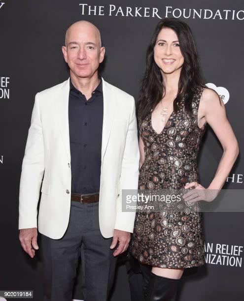 Chief Executive Officer of Amazon Jeff Bezos and MacKenzie Bezos attend the 7th Annual Sean Penn & Friends HAITI RISING Gala benefiting J/P Haitian...