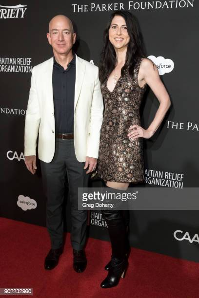 Chief Executive Officer of Amazon Jeff Bezos and MacKenzie Bezos attend the SEAN PENN J/P HRO GALA A Gala Dinner to Benefit J/P Haitian Relief...