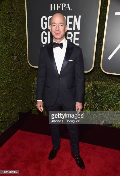 Chief Executive Officer of Amazon Jeff Bezos attends The 75th Annual Golden Globe Awards at The Beverly Hilton Hotel on January 7, 2018 in Beverly...
