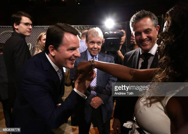 Chief Executive Officer of Baume and Mercier Alain Zimmerman and Star Jones attend BAUME MERCIER Promesse North American Launch at Gotham Hall on...