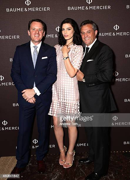Chief Executive Officer of Baume and Mercier Alain Zimmerman Jessica Pare and President Baume and Mercier North America Rudy Chavez attend BAUME...