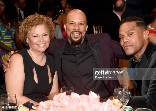 Chief Executive Officer of BET Debra L Lee Common and singer Maxwell attend BET Presents the American Black Film Festival Honors on February 17 2017...