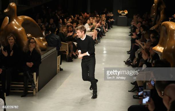 Chief Executive Officer of Burberry Christopher Bailey on the runway at the Burberry show during the London Fashion Week February 2017 collections on...