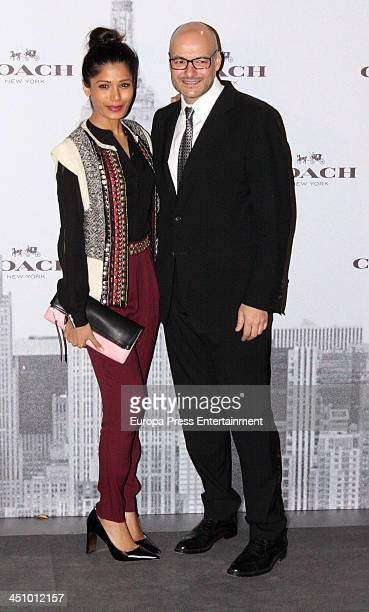 Chief Executive Officer of Coach Victor Luis and Freida Pinto attend the opening of 'Coach New York' Flagship Store on November 20 2013 in Madrid...