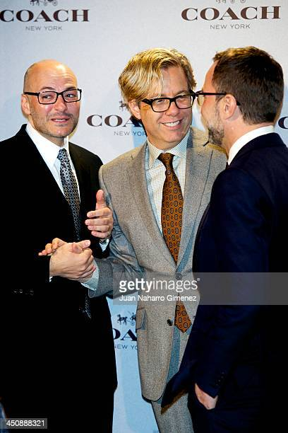 Chief Executive Officer of Coach Victor Luis designer Michael Smith and USA Embassador in Spain James Costos attend the Coach Boutique opening on...