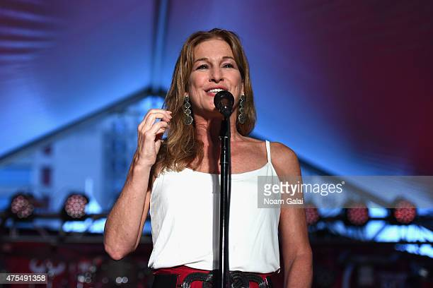 Chief Executive Officer of Deborah Dugan speaks at Infiniti Presents The Supper To Launch EAT DRINK SAVE LIVES on May 31 2015 in New York City Photo...