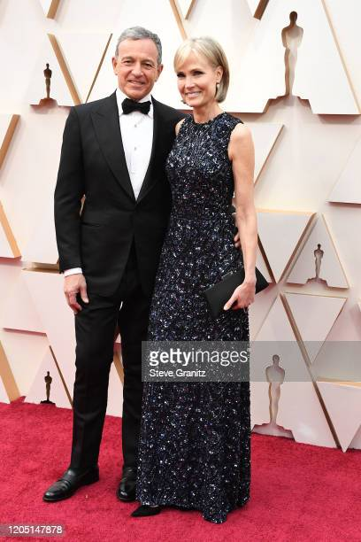 Chief Executive Officer of Disney Bob Iger and USC Annenberg School for Communication and Journalism dean Willow Bay attends the 92nd Annual Academy...