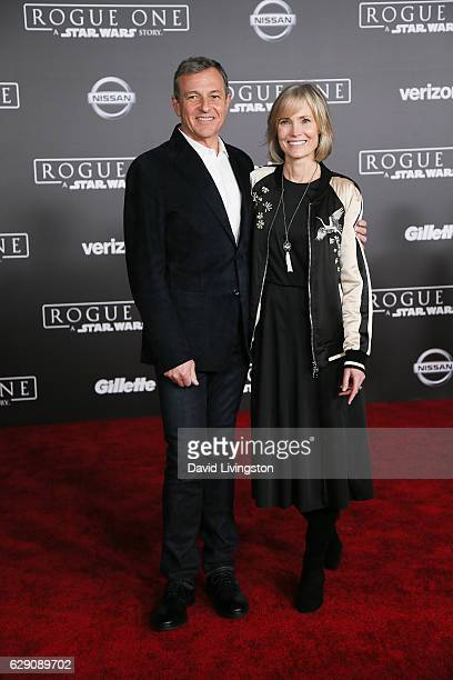 Chief Executive Officer of Disney Bob Iger and Willow Bay arrive at the premiere of Walt Disney Pictures and Lucasfilm's 'Rogue One A Star Wars...