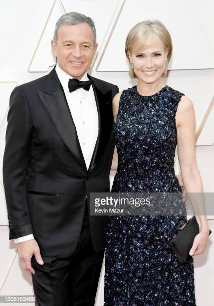 Chief Executive Officer of Disney Bob Iger and Willow Bay attend the 92nd Annual Academy Awards at Hollywood and Highland on February 09 2020 in...