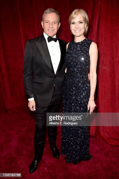 Chief Executive Officer of Disney Robert Iger and Willow Bay attend the 92nd Annual Academy Awards at Hollywood and Highland on February 09 2020 in...