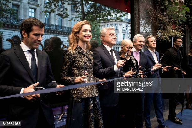 Chief Executive Officer of Galeries Lafayette Nicolas Houze Russian model Natalia Vodianova Christian Dior chief executive Sidney Toledano Dior...