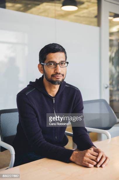 Chief executive officer of Google Inc Sundar Pichai is photographed at Google HQ for Verge Magazine on May 22 2015 in Mountain View California