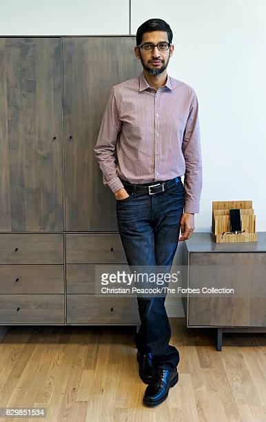 Chief Executive Officer of Google Sundar Pichai is photographed for Forbes Magazine on May 13 2016 in Mountain View California CREDIT MUST READ...