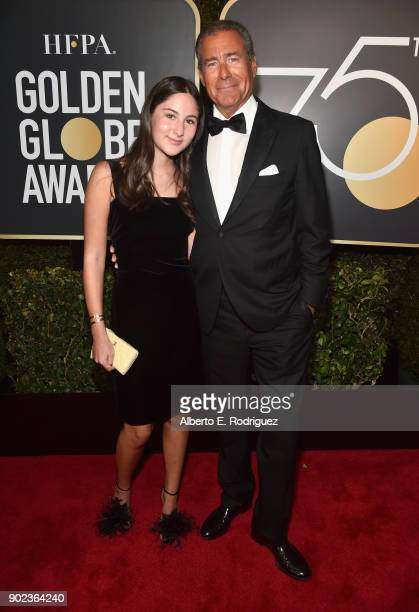 Chief Executive Officer of HBO Richard Plepler and Eden Plepler attend The 75th Annual Golden Globe Awards at The Beverly Hilton Hotel on January 7...