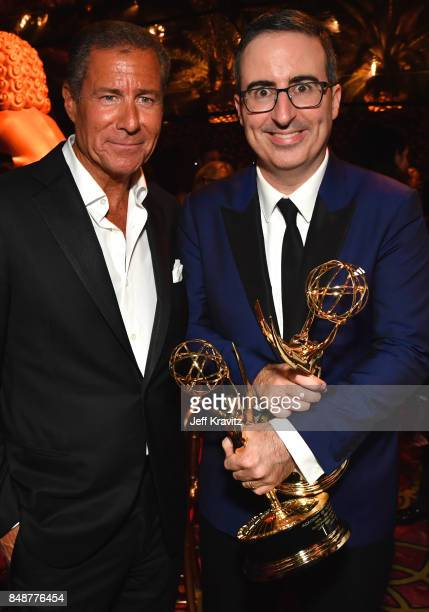 Chief Executive Officer of HBO Richard Plepler and John Oliver attend the HBO's Official 2017 Emmy After Party at The Plaza at the Pacific Design...
