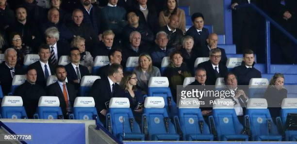 Chief Executive Officer of Leicester City Susan Whelan and England manager Gareth Southgate watch the game during the Premier League match at the...
