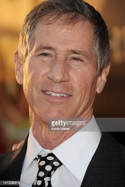 """Chief Executive Officer of Lions Gate Entertainment Jon Feltheimer arrives at the premiere of Lionsgate's """"The Hunger Games"""" at Nokia Theatre L.A...."""