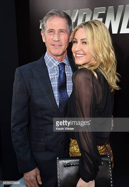 Chief Executive Officer of Lions Gate Entertainment Jon Feltheimer and Laurie Feltheimer attend the premiere of Lionsgate Films' The Expendables 3 at...