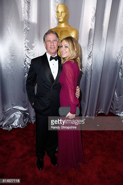 Chief Executive Officer of Lions Gate Entertainment Jon Feltheimer and Laurie Feltheimer attend the 88th Annual Academy Awards at Hollywood Highland...