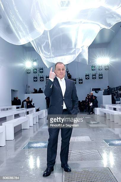 Chief Executive Officer of Louis Vuitton Michael Burke attends the Louis Vuitton Menswear Fall/Winter 20162017 Fashion Show as part of Paris Fashion...