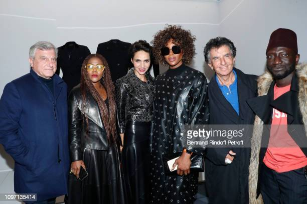 Chief Executive Officer of LVMH Fashion Group Sidney Toledano a guest Farida Khelfa Model Naomi Campbell Jack lang and Stylist Jenke Ahmed Tailly...