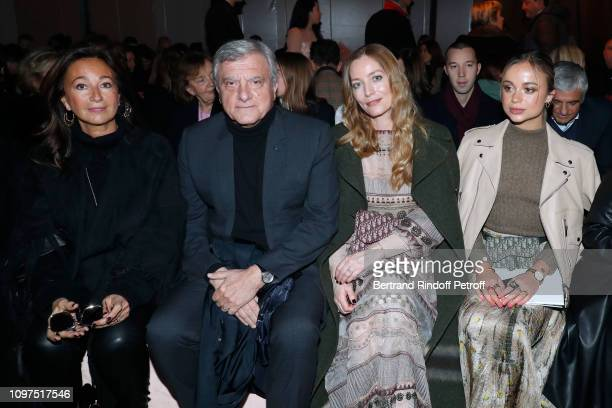 Chief Executive Officer of LVMH Fashion Group Sidney Toledano with his wife Katia Toledano Lucie de la Falaise and Amelia Windsor attend the...