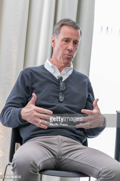 Chief Executive Officer of Marriott International Arne M Sorenson attends The Times Square EDITION Press Conference at Edition Hotel Manhattan