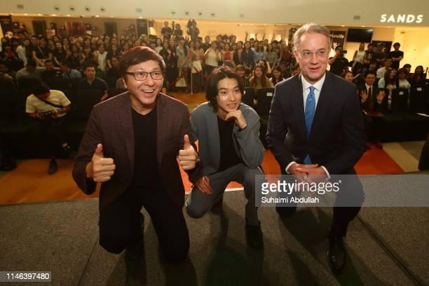 Chief Executive Officer of Mm2 Asia Limited Chang Long Jong Japanese actor Kento Yamazaki and Chief Executive Officer and President of Marina Bay...