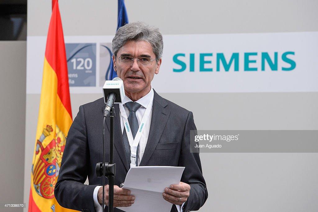 King Felipe VI Of Spain Visits Siemens : News Photo