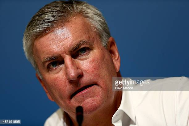 Chief Executive Officer of the British Olympic Association Bill Sweeney attends a press conference ahead of the Sochi 2014 Winter Olympics at the...