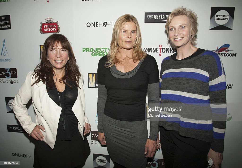 Chief Executive Officer of The Creative Coalition Robin Bronk, Mariel Hemingway and actress Jane Lynch attend 2013 Creative Coalition Spotlight Initiative Gala Awards Dinner - 2013 Sundance Film Festival at The Sky Lodge on January 19, 2013 in Park City, Utah.