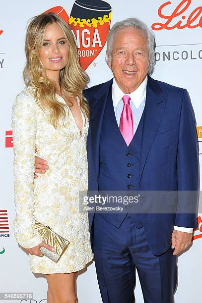 Chief Executive Officer of the New England Patriots Robert Kraft and Ricki Lander attend the 2nd annual Sports Humanitarian of The Year Awards at...