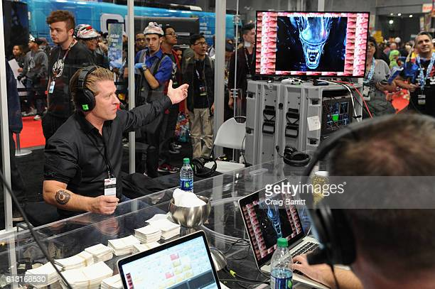 Chief Executive Officer of Turner Broadcasting System, Inc. John Martin visits the Adult Swim Streams booth at New York Comic Con 2016 on October 6,...
