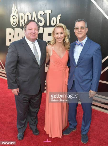 Chief Executive Officer of Viacom Bob Bakish General Manager of Comedy Central Tanya Giles and President of Comedy Central Kent Alterman attend the...