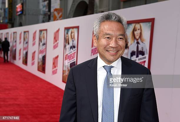 Chief Executive Officer of Warner Bros Kevin Tsujihara attends the premiere of New Line Cinema and MetroGoldwynMayer's Hot Pursuit at TCL Chinese...