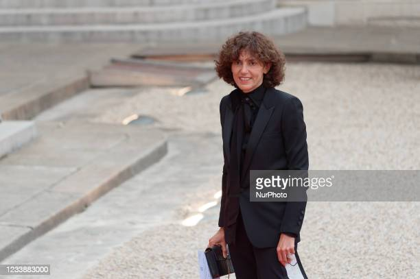 Chief executive officer of Yves Saint Laurent, Francesca Bellettini arrives for state diner with Italian President Sergio Mattarella and his daughter...