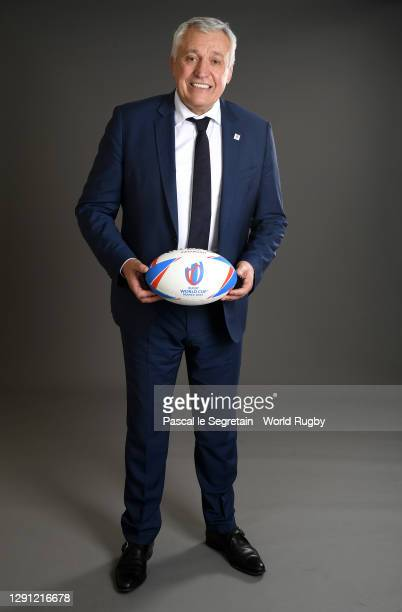 Chief Executive Officer- Rugby World Cup France 2023 Claude Atcher poses for a photo during the Rugby World Cup France 2023 draw at Palais Brongniart...