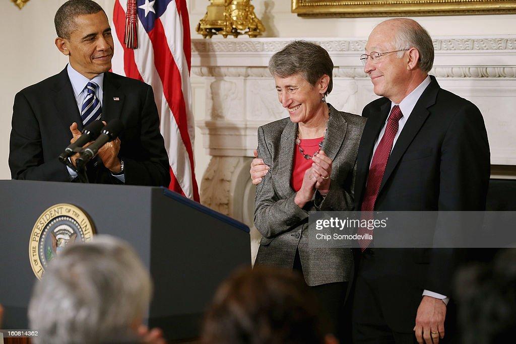 President Obama Nominates Outdoor Retailer REI CEO Sally Jewell As Interior Secretary : News Photo