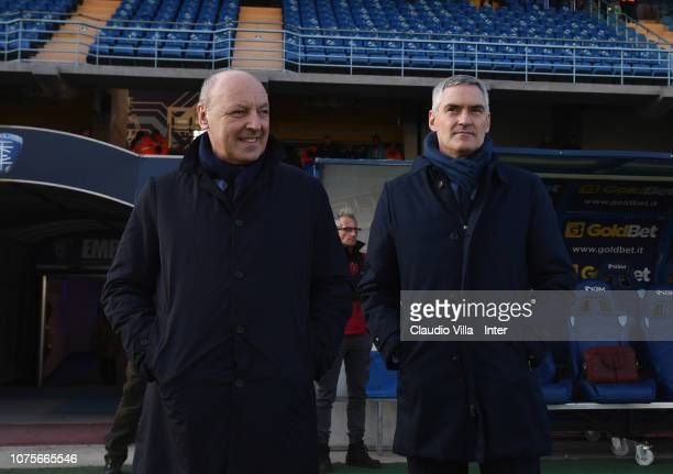Chief Executive Officer Sport FC Internazionale Giuseppe Marotta and Chief Executive Officer Corporate FC Internazionale Alessandro Antonello look on...
