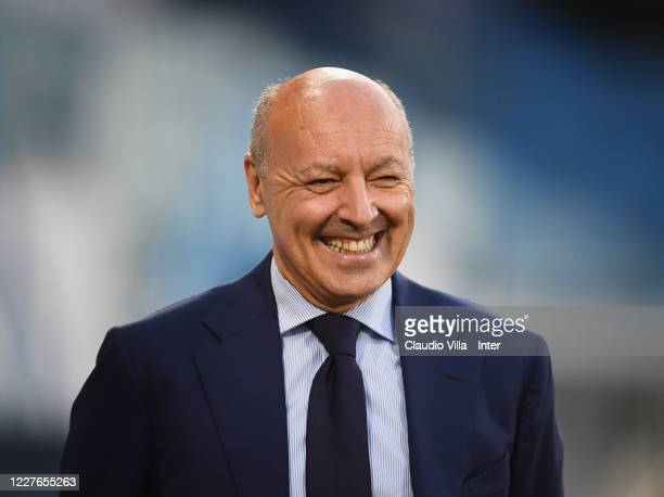 Chief Executive Officer Sport FC Internazionale Giuseppe Marotta looks on during the Serie A match between SPAL and FC Internazionale at Stadio Paolo...