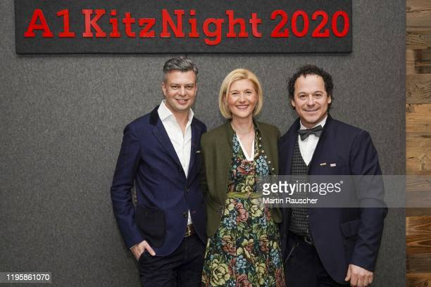 Chief Executive Officer Thomas Arnoldner Rainer Schoenfelder and Guest on the A1 Kitz Night 2020 on the Audi FIS alpine ski world cup on January 24...