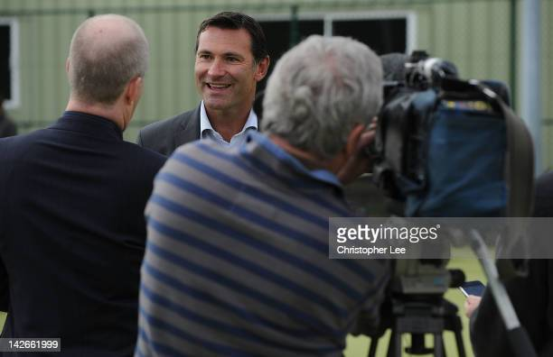 Chief Executive Roger Draper talks to the media during the AEGON Classic preview at the Edgbaston Prior Club on April 11 2012 in Birmingham England