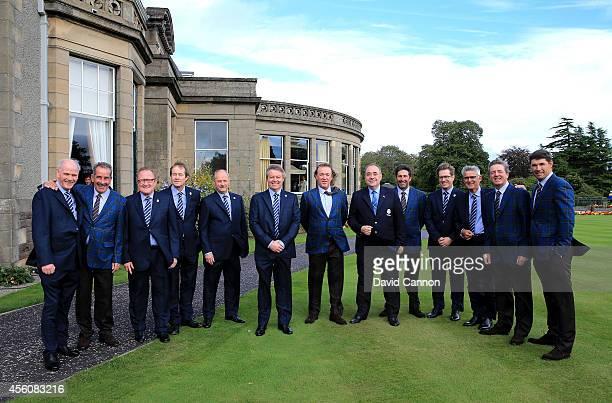PGA Chief Executive Sandy Jones Europe team vice captain Sam Torrance European Ryder Cup Director Richard Hills Chief Executive of the European Tour...