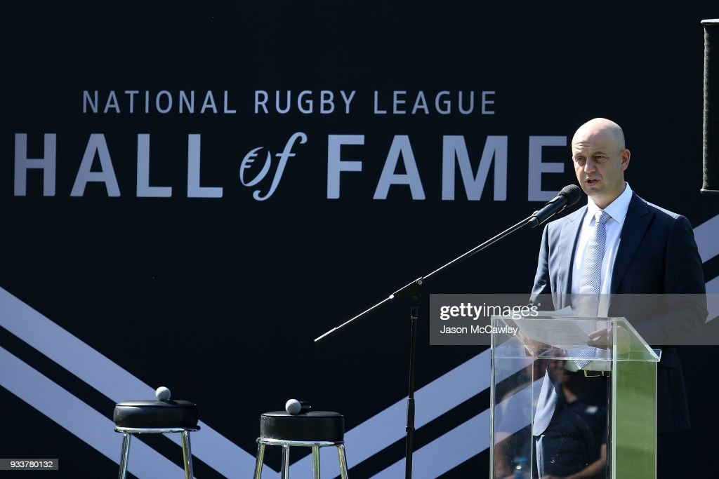Chief Executive Todd Greenberg speaks during the Rugby League Hall of Fame and Immortals Announcement at Sydney Cricket Ground on March 19, 2018 in Sydney, Australia.