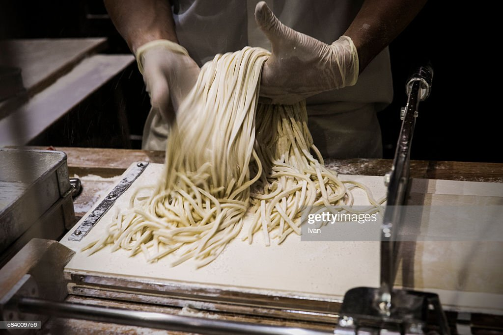 Chief Executives, Makes Japanese-style ramen, wheat noodles : Stock Photo