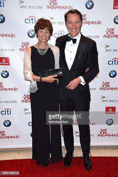 Chief Financial Officer of BMW of North America Stefan Walmrath and Kathrin Walmrath attend New York Philharmonic's Opening Gala Celebrating the...
