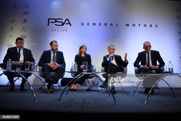 Chief Financial Officer of French carmaker Groupe PSA JeanBaptiste de Chatillon General Motors' corporate officer Dan Ammann chairperson and CEO of...