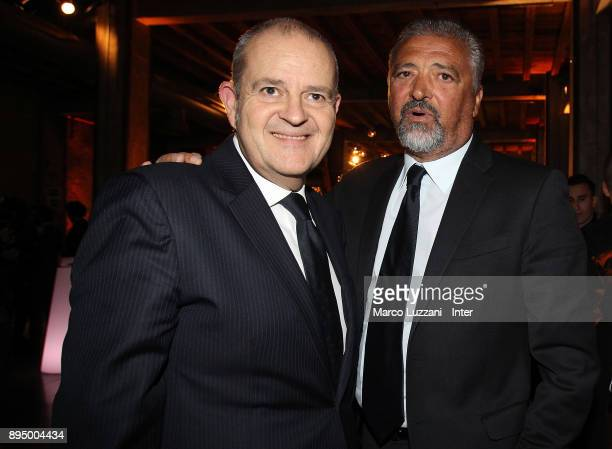 Chief Football Administrator of FC Internazionale Milano Giovanni Gardini and Alessandro Altobelli attend FC Internazionale Christmas Party on...