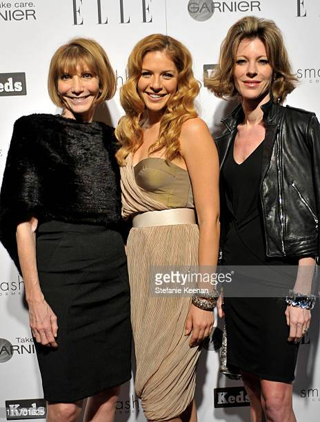 COVERAGE** Chief Grand Officer of the ELLE Group Carol Smith and actress Rachelle Lefevre and Editor in Chief US ELLE Robbie Myers attend the ELLE...